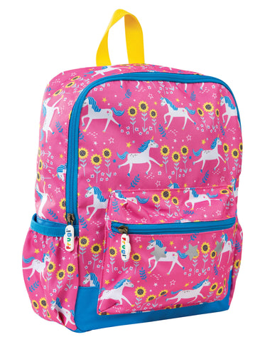 Frugi Adventurers Backpack - Flamingo Unicorn Skates