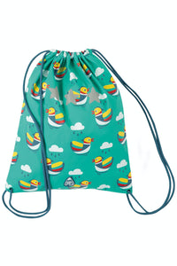 Frugi Good To Go Bag - Pacific Aqua Mandarin Ducks