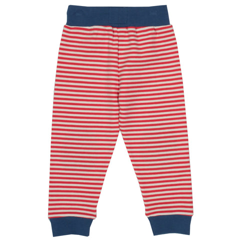 Kite Red Stripy Joggers - Organic Cotton