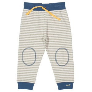 Kite Grey Stripy Joggers - Organic Cotton