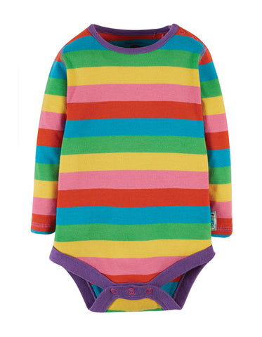 Image of Frugi Favourite Body - Foxglove Rainbow Stripe,