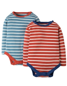 Frugi Billy Body -Breton 2 Pack - Organic Cotton