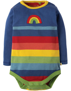 Frugi Sunny Panelled Body - True Blue/Rainbow - Organic Cotton