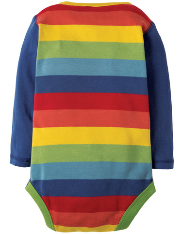 Image of Frugi Sunny Panelled Body - True Blue/Rainbow