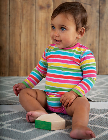 Image of Frugi Rainbow Body - Rainbow Marl Breton - Tilly & Jasper