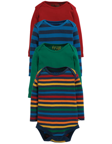 Frugi Over the Rainbow Bodies - Rainbow Mulitpack 4pk - Tilly & Jasper