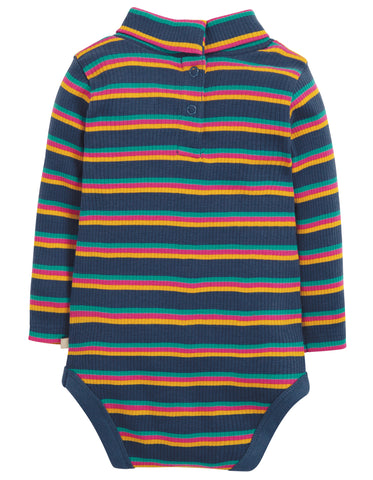 Frugi Poppy Roll Neck Body - Multistripe