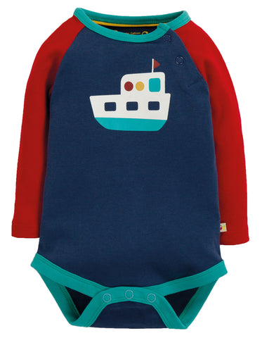 Image of Frugi Rowan Raglan Body - Space Blue/Boat