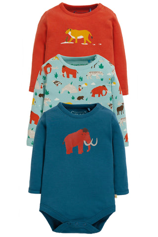 Frugi Super Special 3 Pack Body - Prehistoric Multipack