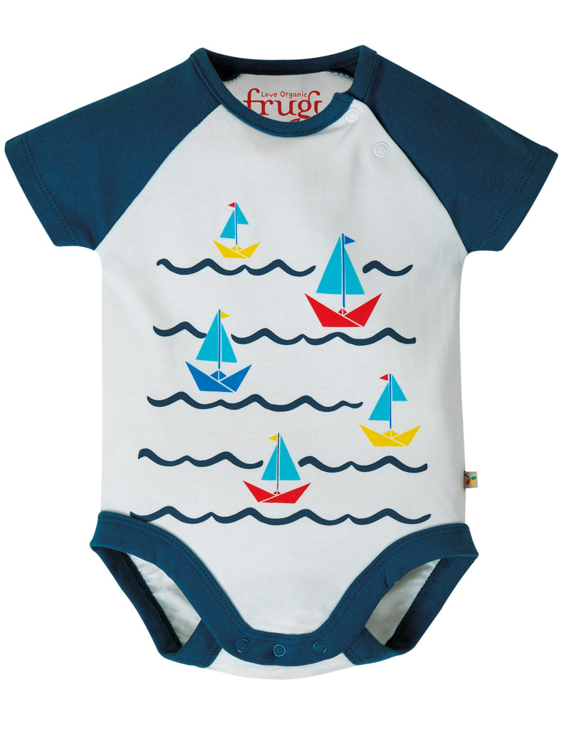 Frugi Bodhi Body - Soft White/Boats