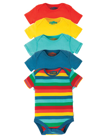 Frugi 5 Pack Body - Over the Rainbow