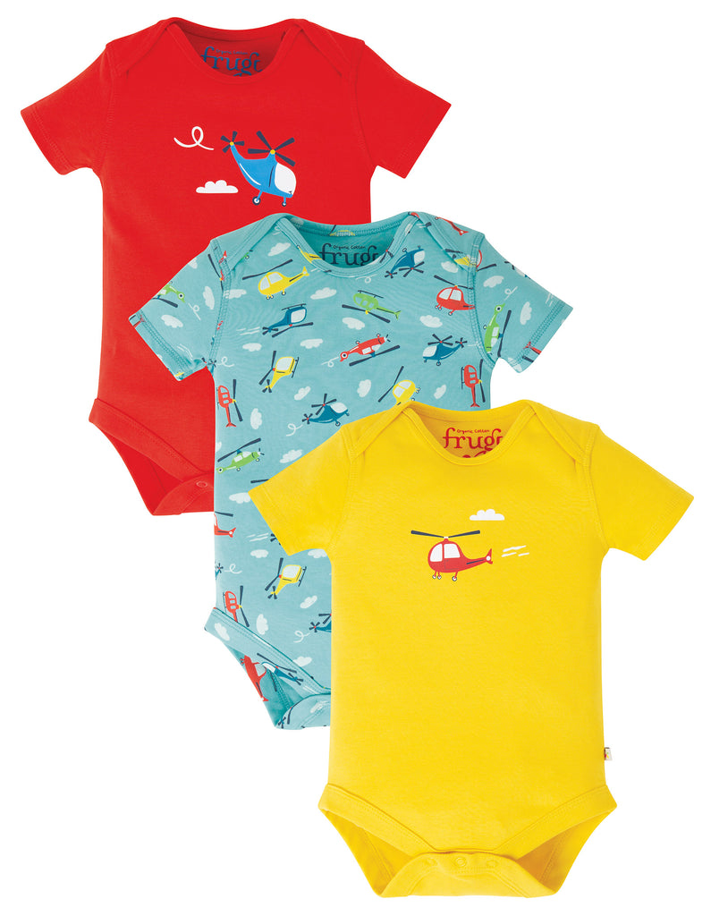 Frugi Super Special 3 Pack Body - Helicoptor