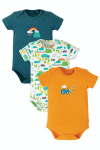 Frugi Super Special 3 Pack Body - Rainbow
