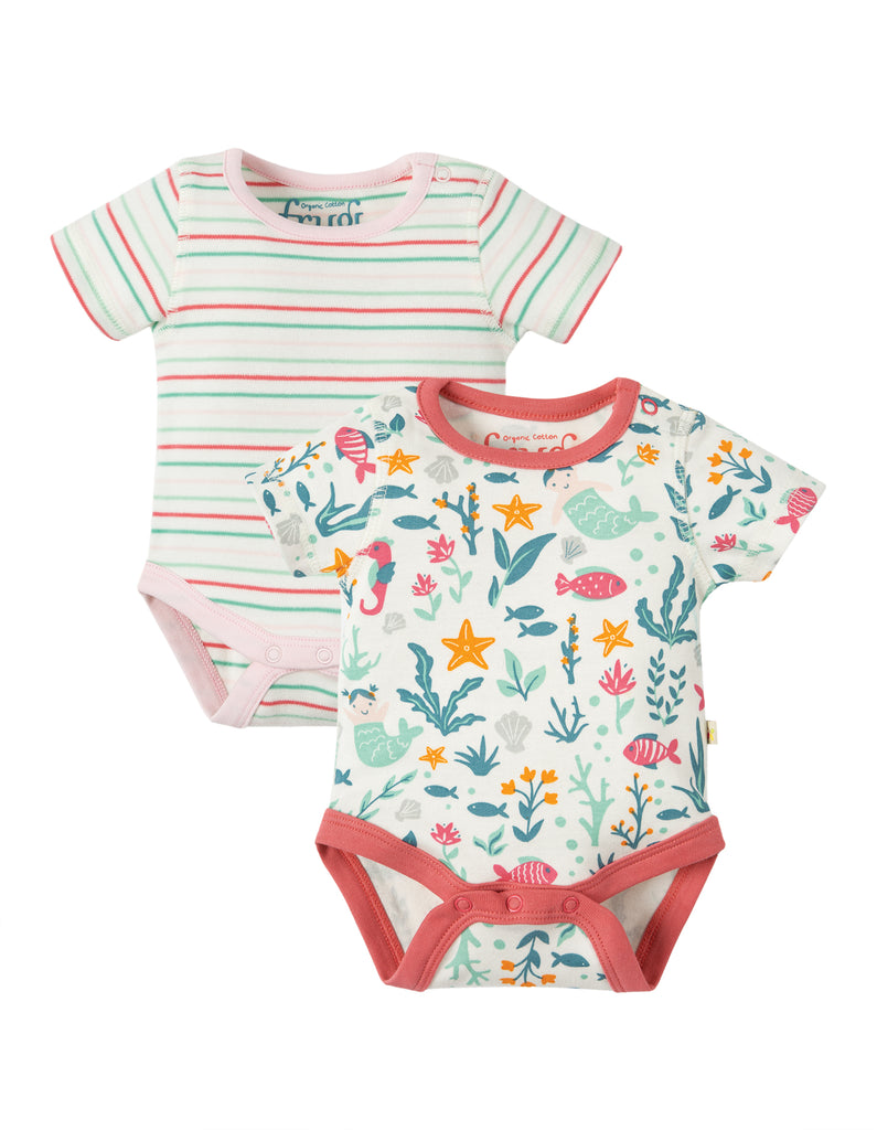 Frugi Bailey 2 Pack Body - Mermaid Multipack - Tilly & Jasper