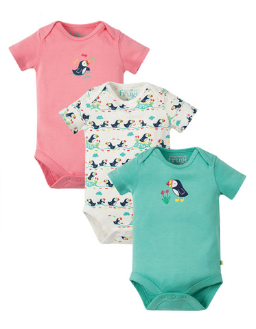 Image of Frugi Super Special 3 Pack Body - Puffin Multipack