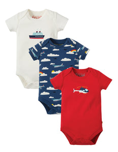 Frugi Super Special 3 Pack Body - Plane  Multipack - Tilly & Jasper