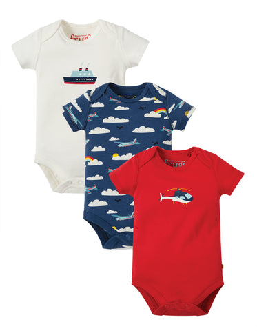 Image of Frugi Super Special 3 Pack Body - Plane  Multipack