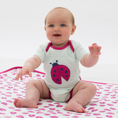 Image of Kite Stripy Ladybird Bodysuit