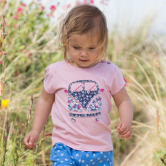 Kite Girls Camper Van T-shirt - Organic Cotton
