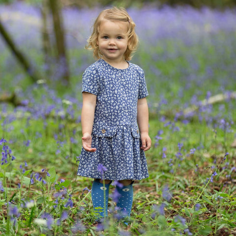 Image of Kite Ditsy dress - Organic Cotton