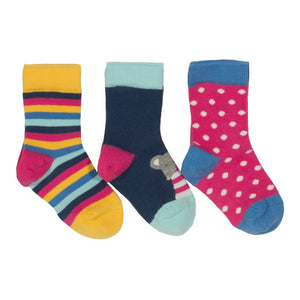 Kite 3 pack mousey socks - Organic Cotton