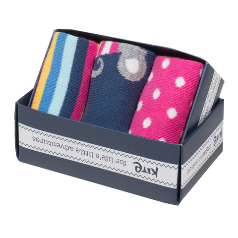 Image of Kite 3 pack mousey socks - Organic Cotton