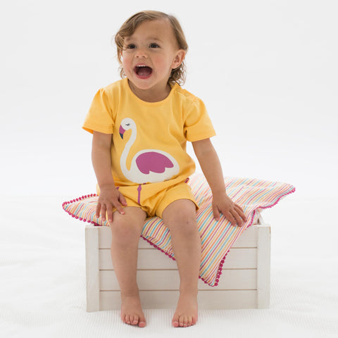 Kite Flamingo romper - Organic Cotton