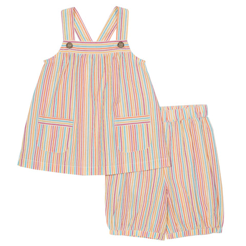 Kite Seersucker stripy set - Organic Cotton