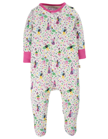 Image of Frugi Lovely Babygrow - Multi Fairy Friends