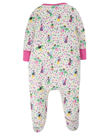 Frugi Lovely Babygrow - Multi Fairy Friends