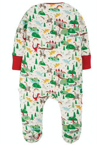 Frugi Zipped Babygrow - Multi Mini Fairytale
