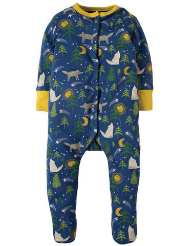 Frugi Lovely Babygrow - Moonlit Night