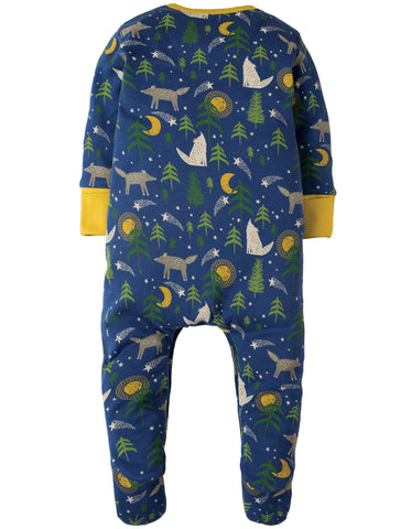 Image of Frugi Lovely Babygrow - Moonlit Night