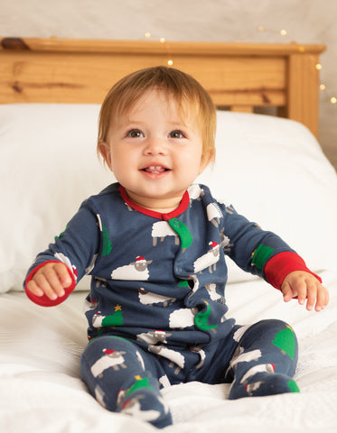 Frugi Lovely Babygrow - Hide And Sheep