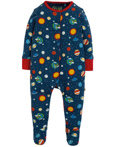 Frugi Lovely Babygrow - Intergalactic - Tilly & Jasper