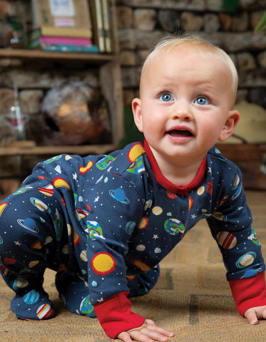 Frugi Lovely Babygrow - Intergalactic