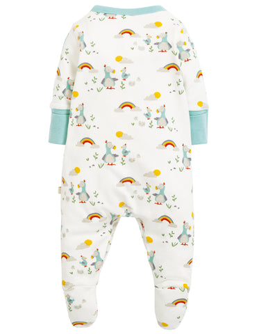 Image of Frugi Lovely Little Babygrow - Delightful Dodos