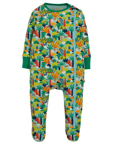 Frugi Zipped Babygrow - Jungle Rumble
