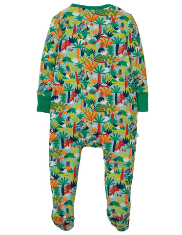 Image of Frugi Zipped Babygrow - Jungle Rumble