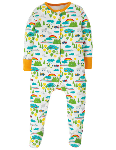 Frugi Lovely Babygrow - Land Of The Rising Sun