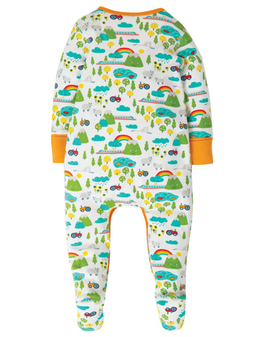 Image of Frugi Lovely Babygrow - Land Of The Rising Sun