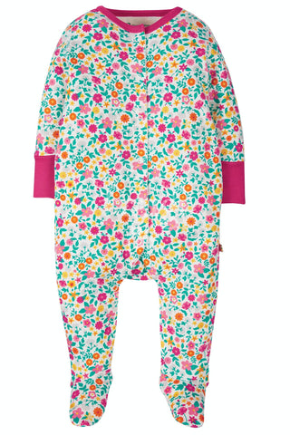 Image of Frugi Lovely Babygrow - Ditsy Flower Valley
