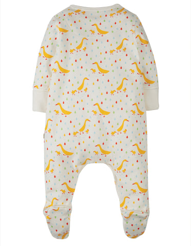 Frugi Lovely Little Babygrow - Soft White Runner Ducks