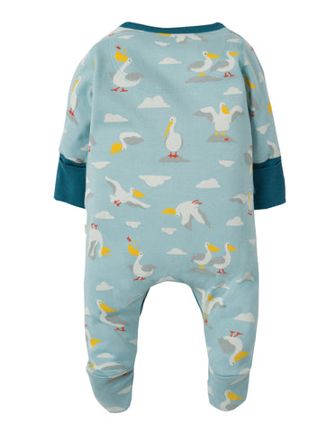 Image of Frugi Lovely Little Babygrow - Pelican Party - Tilly & Jasper