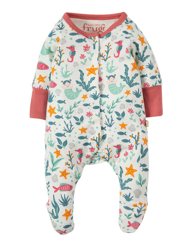 Frugi Lovely Little Babygrow - Rockpool Mermaids - Tilly & Jasper