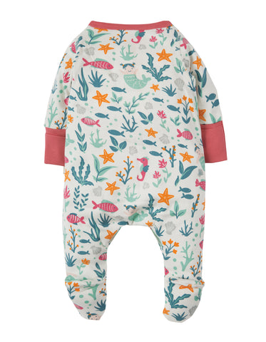 Image of Frugi Lovely Little Babygrow - Rockpool Mermaids - Tilly & Jasper