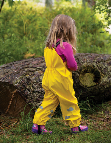 Image of Frugi Puddle Buster Trousers - Sunflower