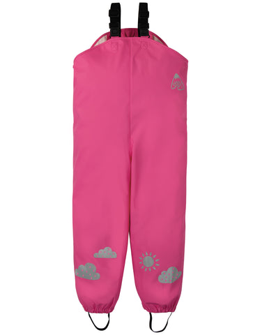 Frugi Puddle Buster Trousers - Flamingo