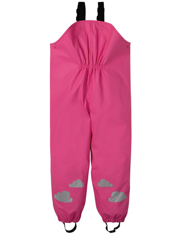 Image of Frugi Puddle Buster Trousers - Flamingo - Tilly & Jasper