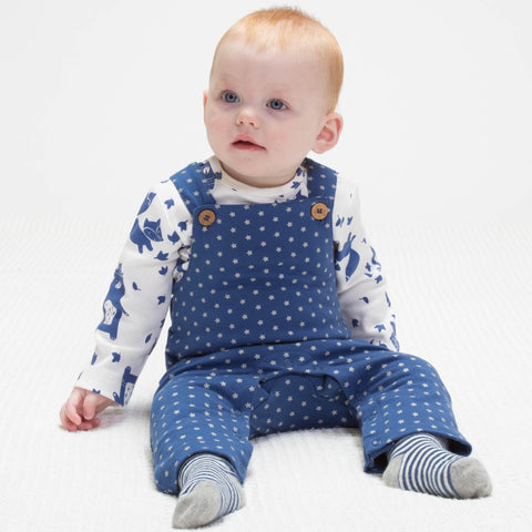 Kite Star Dungarees - Organic Cotton